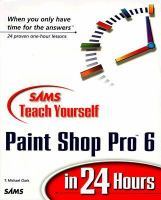Sams Teach Yourself Paint Shop Pro 6 in 24 Hours