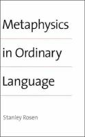 Metaphysics in Ordinary Language