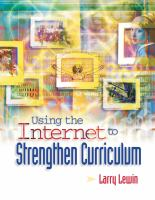 Using the Internet to Strengthen Curriculum