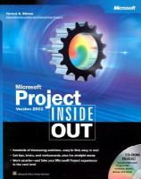 Microsoft Project Version 2002 Inside Out