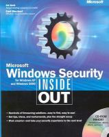 Microsoft Windows Security Inside Out for Windows XP and Windows 2000