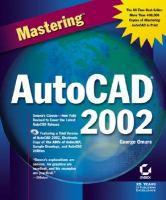 Mastering AutoCAD 2002