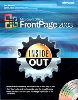 Microsoft Office FrontPage 2003 Inside Out (Inside Out (Redmond, Wash.))
