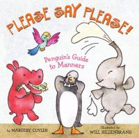cover of Margery Cuyler's book, Please Say Please--Penguin's Guide to Manners, with animals on the cover