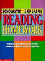 Scholastic Explains Reading Homework