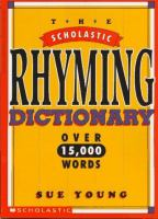 The Scholastic Rhyming Dictionary