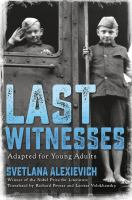 Last Witnesses: Adapted for Young Adults