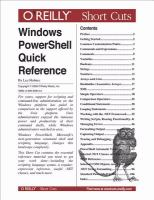 Windows PowerShell Quick Reference