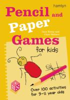Pencil and Paper Games for Kids