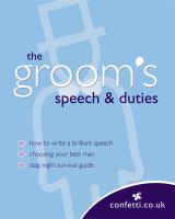The Groom's Speech and Duties