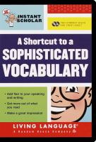 A Shortcut to A Sophisticated Vocabulary