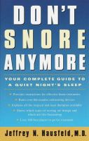 Don't Snore Anymore