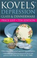 Kovels' Depression Glass & Dinnerware Price List