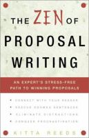 The Zen of Proposal Writing