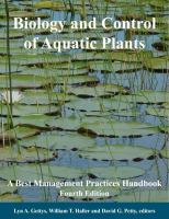 Biology and Control of Aquatic Plants
