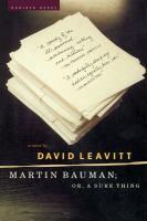 Martin Bauman ; Or, A Sure Thing