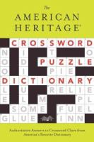 The American Heritage Crossword Puzzle Dictionary