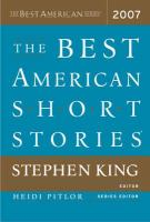 The Best American Short Stories, 2007, Selected From U.S. and Canadian Magazines