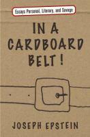 In A Cardboard Belt!