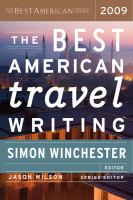 Best American Travel Writing 2009