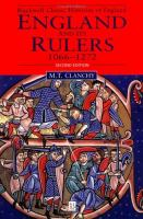England and Its Rulers, 1066-1272