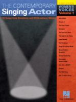 The Contemporary Singing Actor, Women's Edition, Volume 1