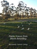 Poetic Voices From Black Saturday