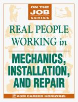 Real People Working in Mechanics, Installation, and Repair
