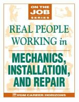 Real People Working in Mechanics, Installation and Repair