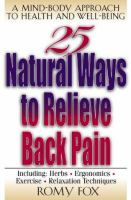 25 Natural Ways to Relieve Back Pain