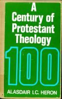 A Century of Protestant Theology
