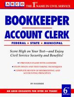 Bookkeeper, Account Clerk