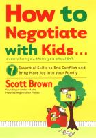 How To Negotiate With Kids