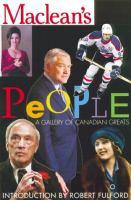 Maclean's People