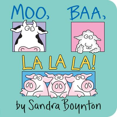 "Book Cover - Moo, baa, la la la! "" title=""View this item in the library catalogue"