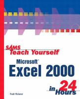 Microsoft Excel 2000 in 24 Hours