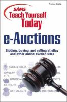 Sams Teach Yourself Today E-auctions