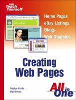 Creating Web Pages All in One
