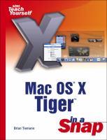MAC OS X Tiger in A Snap