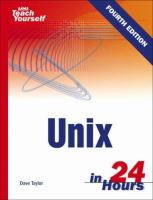 Sams Teach Yourself Unix in 24 Hours
