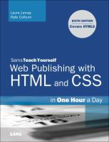 Sams Teach Yourself Web Publishing With HTML and CSS in One Hour A Day