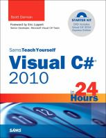 Sams Teach Yourself Visual C# 2010 in 24 Hours