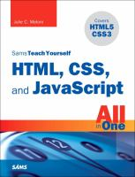 HTML, CSS, and JavaScript