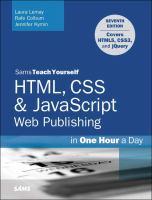 Sams Teach Yourself HTML, CSS & JavaScript Web Publishing