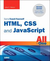 Sam's Teach Yourself HTML, CSS and JavaScript