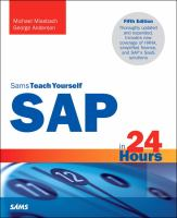SAP In 24 Hours, Sams Teach Yourself (Revised)