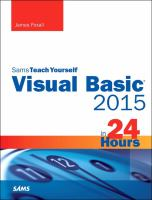 Visual Basic 2015 in 24 Hours
