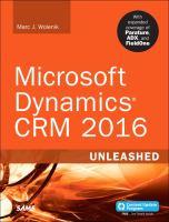 Microsoft Dynamics CRM 2016 Unleashed