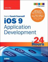 Sams Teach Yourself IOS 9 Application Development in 24 Hours