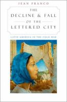 The Decline and Fall of the Lettered City